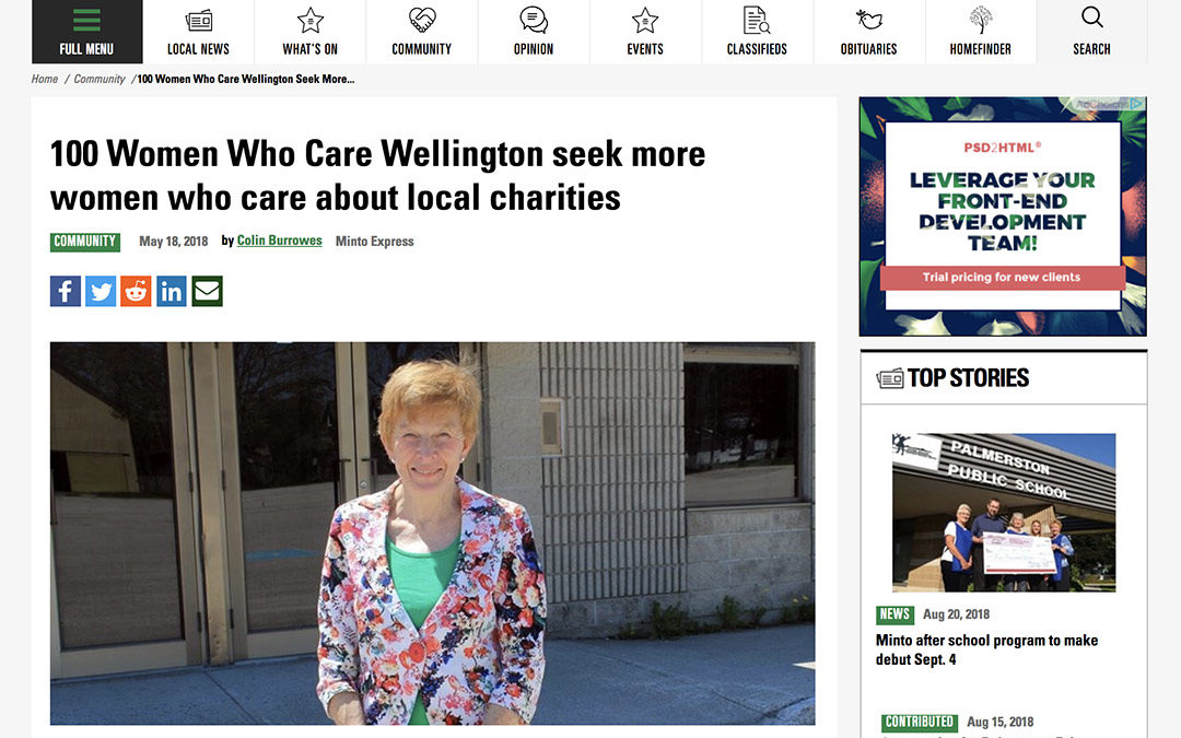 Media Coverage: 100WWC Rural Wellington in the Minto Express
